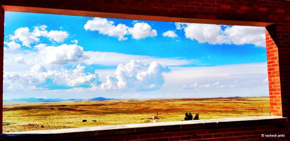 Framing the arid // landscape, perhaps a mirror // sparkling sands of time. © rashesh jethi